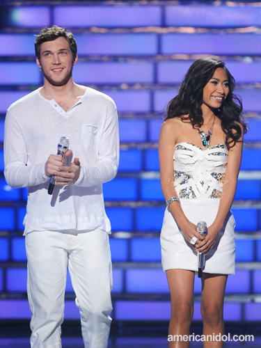 American Idol Jessica Sanchez and Philip Philips