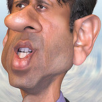 Caricature of Gov Bobby Jindal