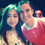 Jessica Sanchez & Darren Criss on set of Glee