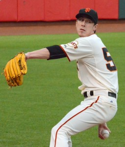 Tim Lincecum Warming Up