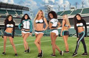 Philadelphia Eagles Cheerleader new Vera Wang Outfits