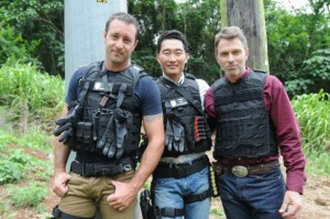 Kim, Daniel Dae with co-star Alex O'Loughlin & Guest Star Tim Daly