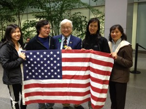 Anna Ha & family with Rep Mike Honda