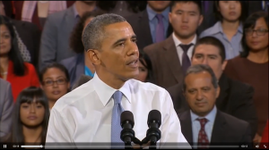 President Obama heckled in San Francisco Chinatown