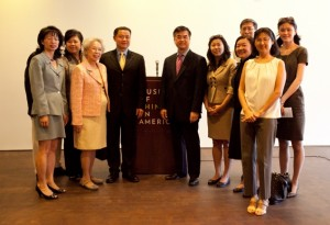 Former Commerce Secretary Gary Locke with leaders of Museum of Chinese in America