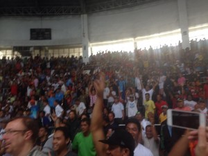 Crowds packed Tacloban City Astrodome for the Pacquiao-Bradley fight