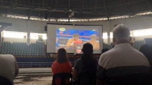 Filipinos pack Tacloban City Astrodome for Pacquiao-Bradley2