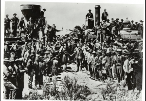 Golden Spike Ceremony, Transcontinental Railroad, May 10, 1869, Promontory Point, UT