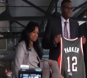 Jabari Parker and his mother Lola