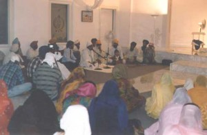Sikhs in temple