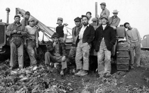 George Hirahara, second from left, with Yakima Valley farmers