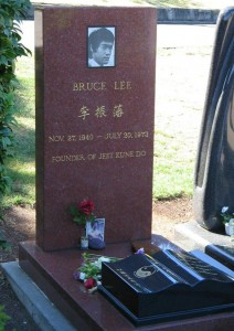 Bruce Lee's tombstone