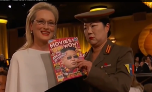 Margaret Cho with Meryl Streep at the Golden Globes