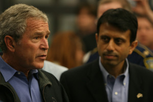 Bobby Jindal with President George W Bush in 2008