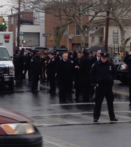 Services for Detective Liu--William (Bill) Bratton arrives for the wake on Saturday.