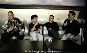 Producer Melvin Mar (2nd right)