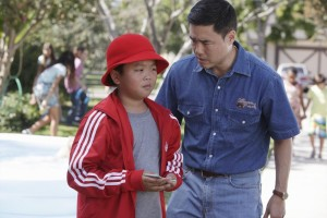 "FRESH OFF THE BOAT - ""The Shunning"" - When the cul-de-sac plans a block party to celebrate NASCAR, Louis urges the family to use the event to make new friends (and promote Cattleman's Ranch Steakhouse). But Jessica has problems fitting in, especially after she befriends a beautiful trophy wife the roller blade moms don't like. Meanwhile, Eddie schemes to win the respect of the neighborhood kids, in the time-period premiere of ABC's new comedy series ""Fresh Off the Boat,"" TUESDAY, FEBRUARY 10 (8:00-8:30 p.m., ET) on the ABC Television Network. (ABC/Nicole Wilder)"