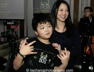 Shirley Lew with Hudson Yang
