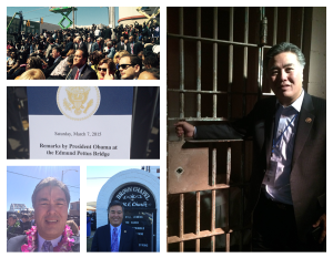 Rep Mark Takano at 50th anniversary march on Selma