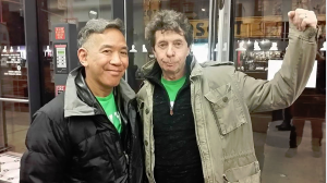 Henry Chang with Author Richard Price