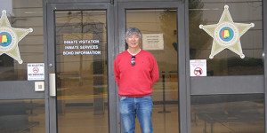 Vincent Wu Stands in From of the Selma Jail where he was imprisoned for one day 50 years ago