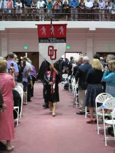 Chinh Doan leads procession at University of Oklahoma graduation
