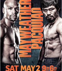 Pacquiao-Mayweather fight poster