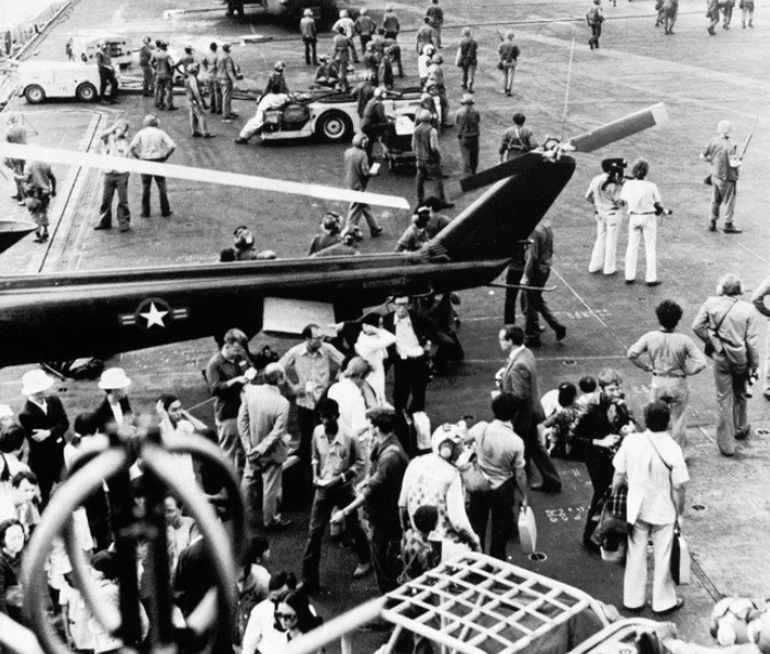 USS Midway Evacuations during the Fall of Saigon