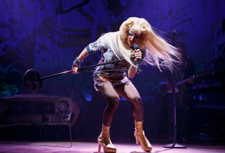 Actor Darren Criss in Broadway's Hedwig and the Angry Inch