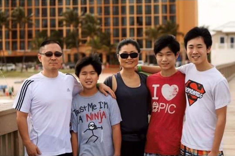 Sonny Kim and Family