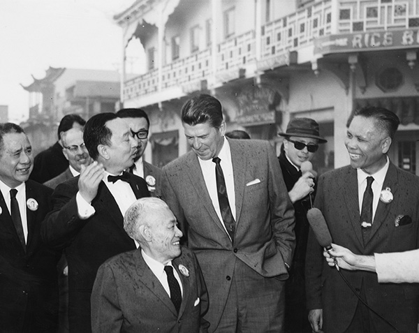 YC Hong with Ronald Reagan in the 1960s