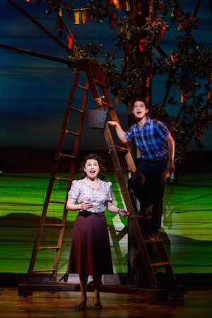 Lea Salonga and Telly Leung in 'Allegiance'. Photo by Matthew Murphy