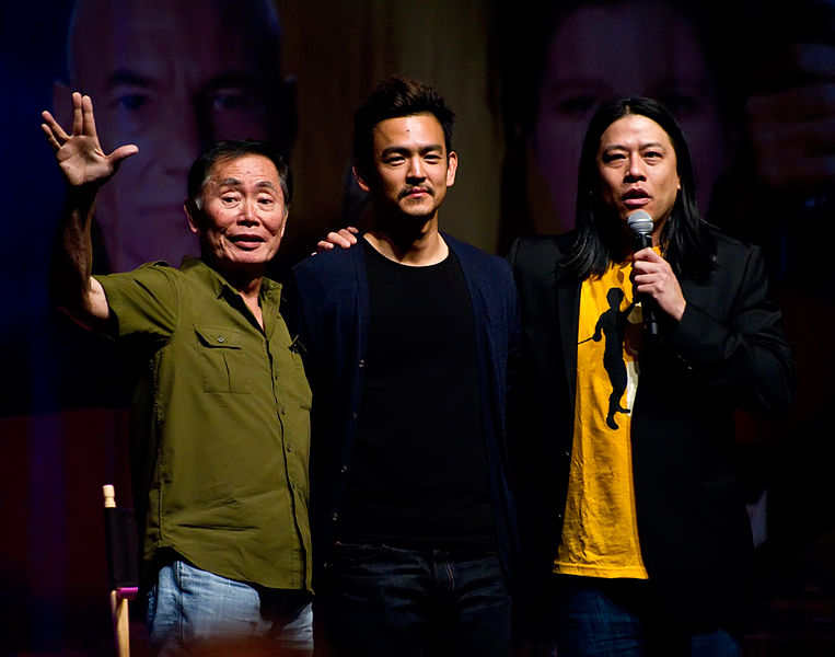 George Takei, John Cho and Garrett Wang at the Las Vegas Star Trek Convention 2011