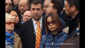 Attorney Robert Brown and Peter Liang's mother