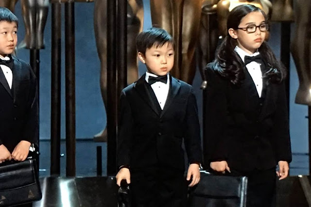 Chris Rock's Asian kids at the Oscars