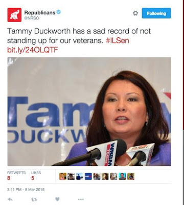 GOP Tweet about Tammy Duckworth
