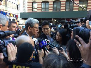 Peter Liang's lawyer, Gary Schectman outside the courthouse.