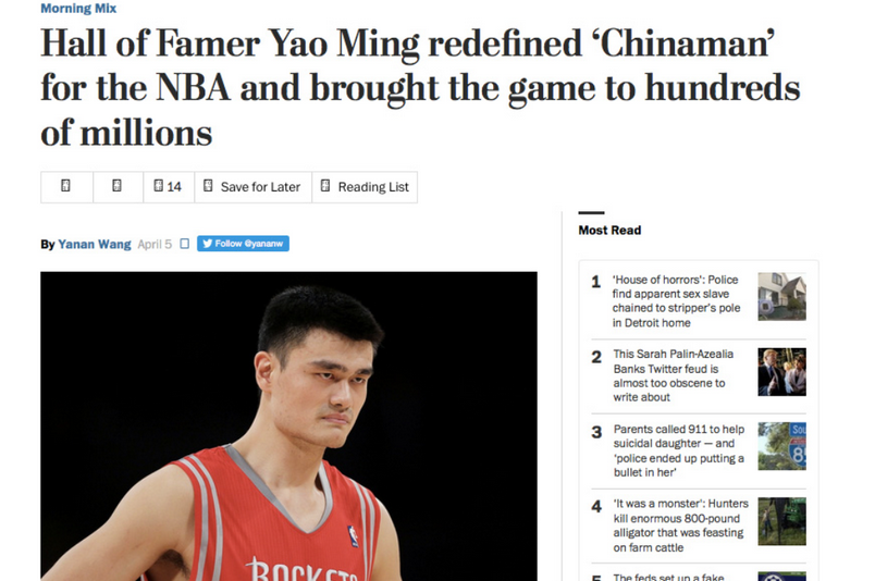 Yao Ming bad headline