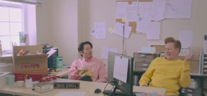Steven Yeun and Conan O'Brien featured in new J.Y. Park Video