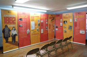 The traveling exhibit of The Chinese Exclusion Act.