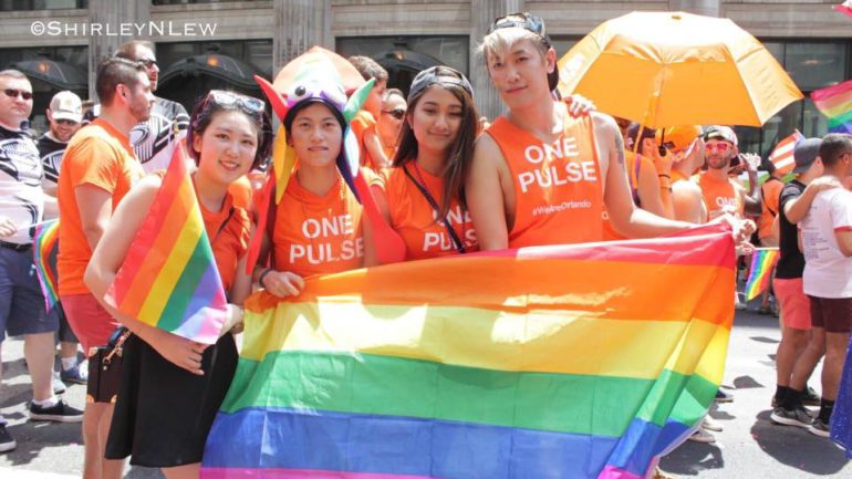 Asian Americans Celebrate at the New York Pride Parade