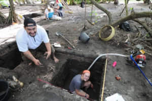 Archaelogical dig in French Polynesia