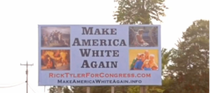 Make America White Again sign