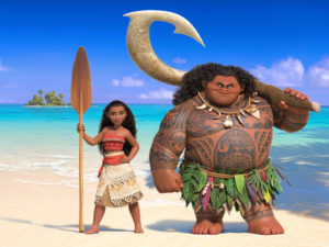 Moana and the demi-god, Maui.