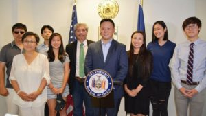 Queens Assemblyman Ron Kim announces Xpeed's settlement of $60K to parents.