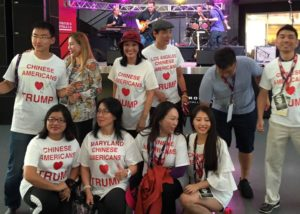 Chinese Americans for Trump at Republican National Convention