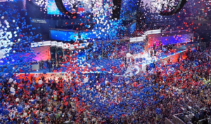 Balloon drop at DNC