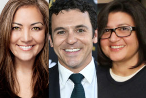 Courtney Khan with Fred Savage and Nahnatchka Khan