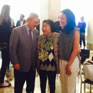 Rose Pak with with San Francisco Mayor Ed Lee and Supervisor Jane Kim