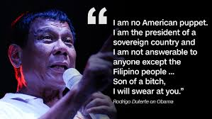 Rodrigo Duterte quote about President Obama